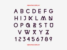 Gravitar Display - grab.the.eye | design & visual communication #font #display #gravitar #typography