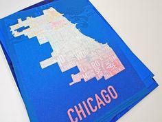 Chicago Typographic Map #graphic #map