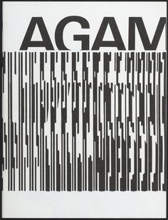 AGAM poster designed by Wim Crouwel