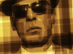 Man in sunglasses art from tape #portraits #tape #art #paintings