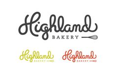 Highland Bakery #logo #script #highland