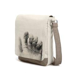 #gehoorzaam #offwhite #bag #messenger #shoulderbag #seneca #hand #angel #finger #palm #prayer