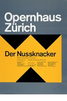 Josef Müller-Brockmann DER NUSSKNACKER 1969 SWITZERLAND [ 128CM X 90CM ] via www.blanka.co.uk