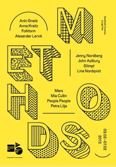 METHODS — Poster, Catalogue, and exhibition design.