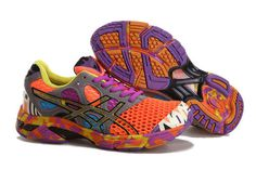 Womens Asics Gel Noosa TRI 7 Orange Grey Purple Shoes #shoes