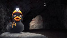#cgi #3d #motiondesign #animation #sally #salzwelten #characterdesign #cave #salt #headlight #helmet #gumduck #duck #black