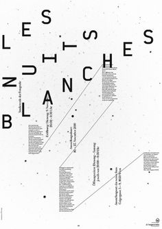 theworkshop #les #nuits #blanches #poster #schlager #christian #theworkshop #typography