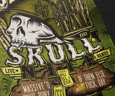Skull Nite flyer by Overloaded Design