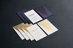 Studio Pennant Business Cards #business card #foil stamp