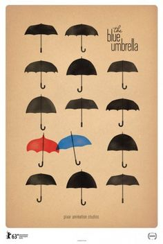 The Blue Umbrella Poster #design #poster
