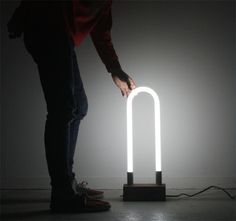 T12 - SARAH PEASE DESIGN #walnut #fluorescent #risd #wood #light
