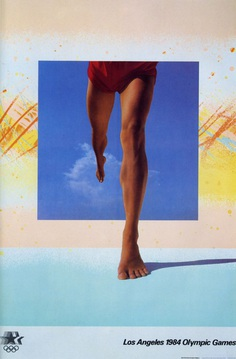 April Greiman, poster for the Olympic Games in Los Angeles 1984 #poster #olympics #sport #graphicdesign