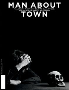 Man About Town 5 Magazine cover #town #cover #about #photography #man #skull #magazine