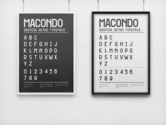 Macondo Typeface #font #retro #typeface #uppercase #typography