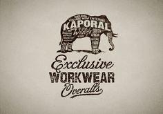 http://www.bmddesign.fr/kaporal/kaporal_9.jpg #lettering #elephant #illustration #type #hand