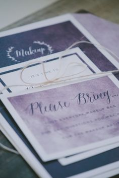 makeup-65 #invitation #stationery #design #makeup #soiree #purple #moody #paper #party