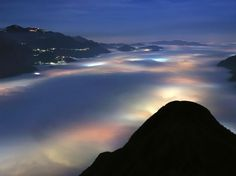Lago di Olginate Photo – Italy Picture – National Geographic Photo of the Day #weather #fog #lights #di #glow #olginate #lago #italy