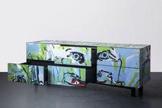 Cabinet, furniture, graffiti, street, interior