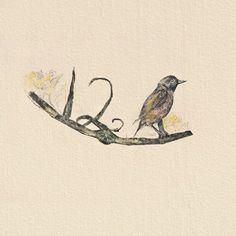 Twelve Birds #abstract #watercolor #sketch