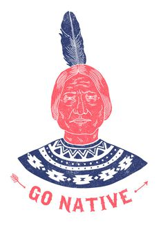 Go native #orka #chief #illustration #indian #abo