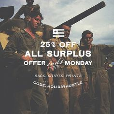 Shirts, pouches, prints, duffles. All the things. Take 25% off all Neuarmy Surplus from now until end of day Monday. #shopsmall #blackfriday