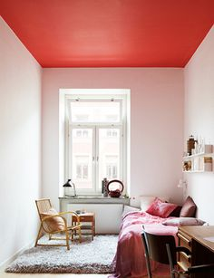 design is mine : isn't it lovely?: INTERIOR INSPIRATION : SEEING RED. #ceiling