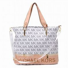 Michael Kors Jet Set Logo Travel Tote White #shoes