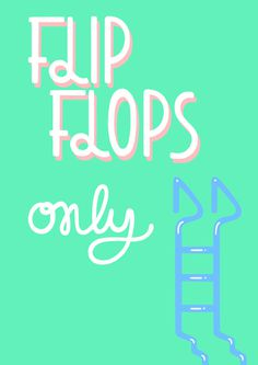 Summer Mural on Behance #type #flops #summer #flip
