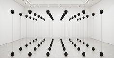 Black baloons art exhibition modern arty cool minimal best designblog design inspiration by mindsparklemag www.mindsparklemag.com