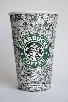 Starbucks Cups #starbucks #design #illustration #johanna #basford