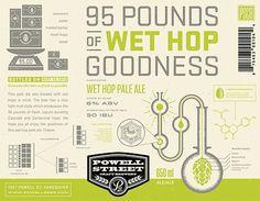 95 Pounds of Wet Hop Goodness Label #packaging #beer #label #bottle