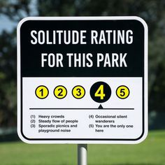 #sign #park #wayfinding #rating #system