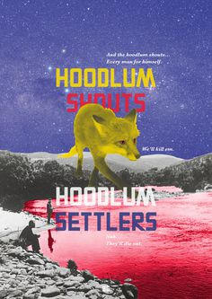 AM/GD #history #fox #shouts #hoodlum #poster #australia