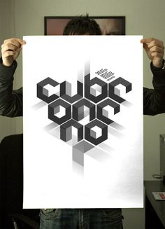 Cube #typography #type #poster #technology #cube