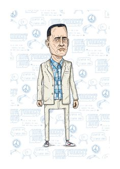 Movies by Ian Carrington #ian #draw #gump #illustrator #forrest #carrington #illustration #drawing