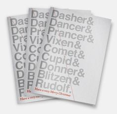 ANONYMOUS MAG #diagonal #reindeers #christmas #gray #type #helvetica
