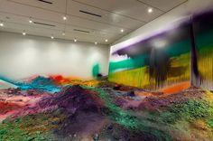 katharina grosse nasher sculpture center designboom 02 #katharina #dust #colors #grosse #art