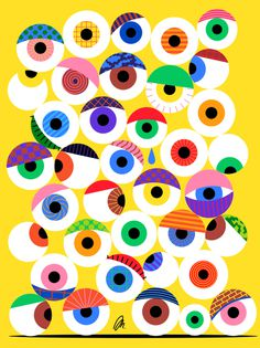 Eyeballs by @mkrnld #eyeballs #illustration #pattern #mkrnld