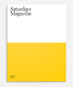 SATURDAYS MAGAZINE #shapes