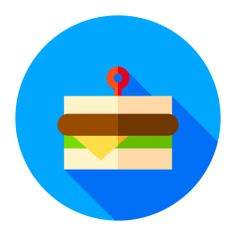 See more icon inspiration related to lunch, sandwich, food, snack, food and restaurant, lettuce, salad, meal, tomato, fast food, bread and cheese on Flaticon.