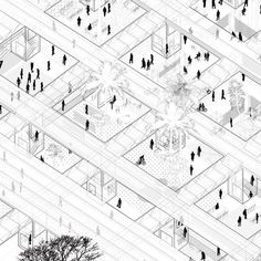 Off-The Grid, Bab Al Bahrein Square / Microcities #architecture #drawing