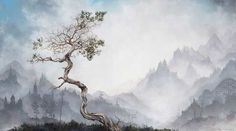 Axiom: Oil Paintings of Foggy Landscapes by Brian Mashburn