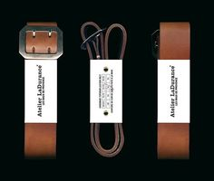 FFFFOUND! | Atelier LaDurance | The Leather Belt Packaging #design #typography