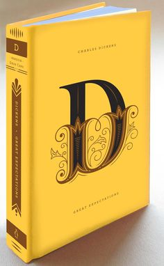 D #hische #yellow #book #cover #drop #cap #jessica #daily #type