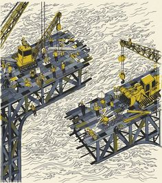 Josh Cochran: work #illustration #josh #cochran #construction