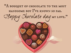 Happy Chocolate Day 2020 Messages For Him
