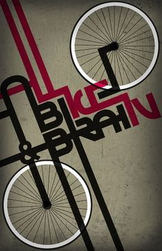 All Bike & Brains poster #fixie #fixed #gear #bike #poster #type