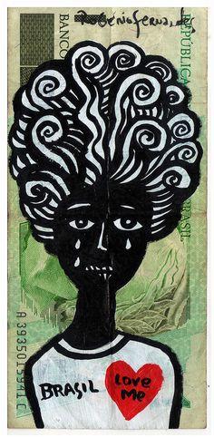 nota Brasil love me #cordel #illustration #brazil