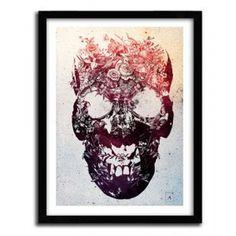 floral skull by Ali Gulec #print