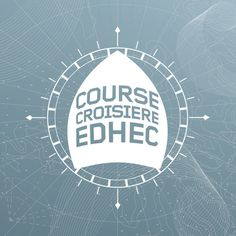 Course croisière EDHEC | Phileman Agence de communication et de design Nantes / Lorient #ocean #sport #event #university #map #logo #label #baot #identity #blue #race